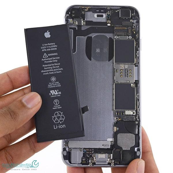 تعمیر باتری موبایل آیفون